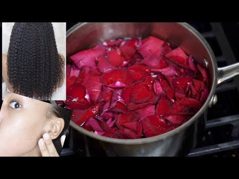 How to get to Perfect SKIN &  moisturized HAIR! HOMEMADE ROSEWATER! Hair Growth & Clear Skin!