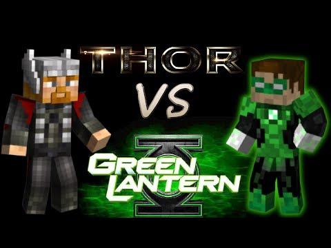 Thor vs Greenlantern - a Minecraft Animation