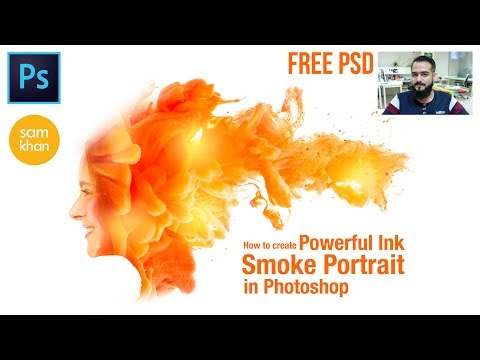 Photoshop tutorials | How to create Orange Powerful Ink Smoke In Photoshop by samkhancreative