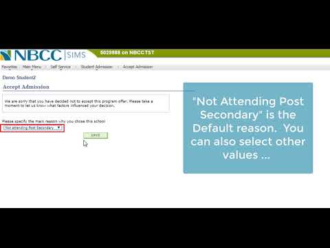Video 2 Decline an Offer of Admission