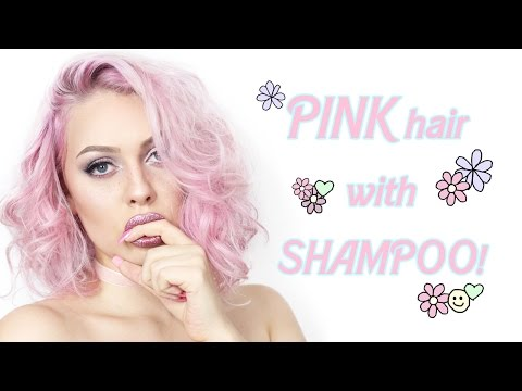 CANDY PINK HAIR JUST WITH SHAMPOO? (cruelty free)