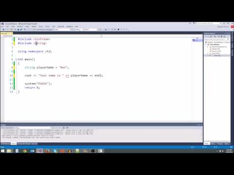 C++/Game Tutorial 3: Chars And Strings