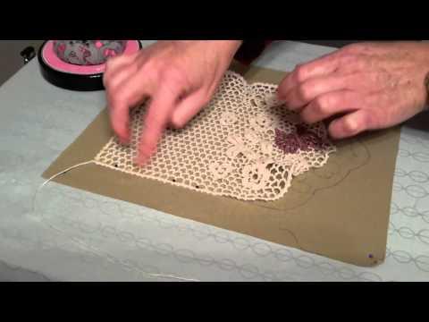 How to block your Irish crochet lace fabric.