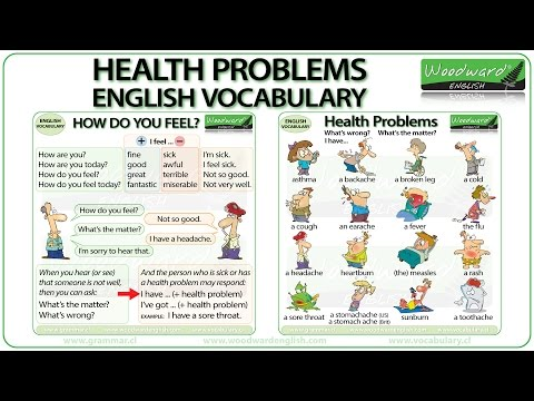 Health Problems - English Vocabulary