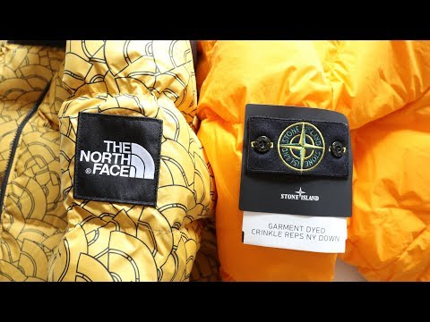 The North  Face Nuptse 1992 Vs Stone Island Garment Dyed AW17 | Jacket Wars