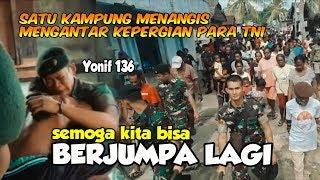 PARA TNI INI PULANG DIANTAR MASYARAKAT SATU KAMPUNG | PURNA TUGAS | SALUT