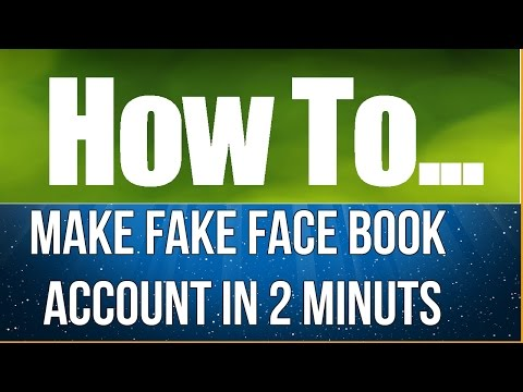 How to make Fake Facebook Account, Without Phone Number and email address in 2 minute