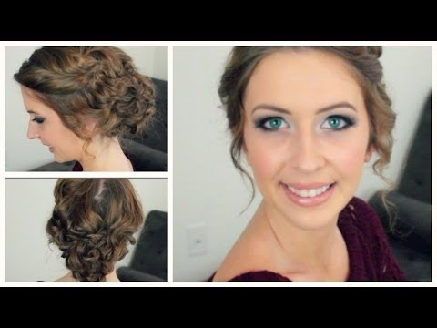 Easy Curly Updo for Any Length & Style of Hair | spreadinsunshine15