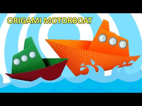 Origami Motorboat 🚢 Ship ⛵ Easy Instructions 🚢