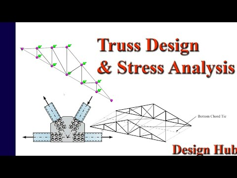 Pratt truss design and stress analysis with concept