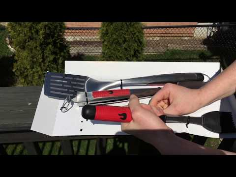 Char broil grill it up comfort grip 3 piece too set unboxing