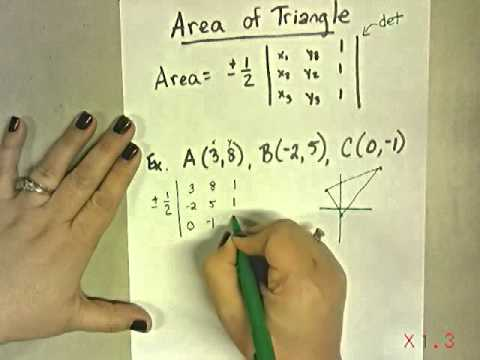 Area of Triangle Using Matrices