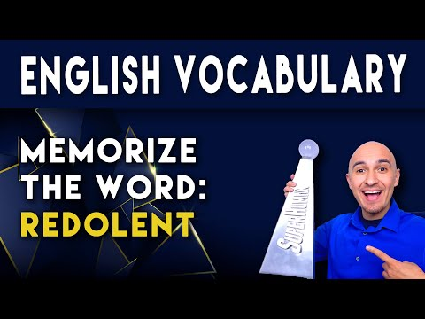 📖 College Vocabulary Words - REDOLENT | How to Memorize English SAT Vocab | Students Improve Memory