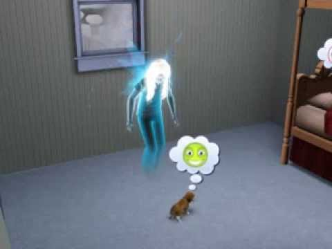 Sims3~Ghost Fairy playing with puppy