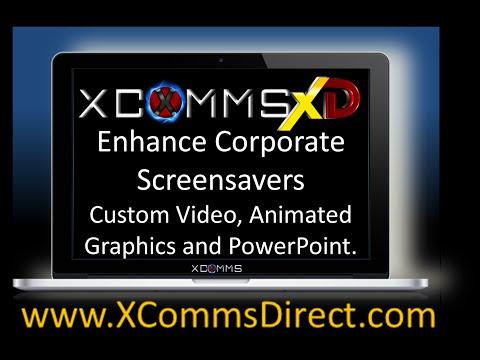 Animated Corporate Screensaver Tool From XComms Desktop Alert Software http://goo.gl/LENC9m
