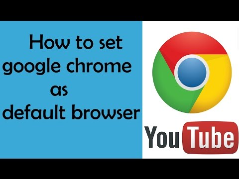 How To Make Google Chrome Your Default Browser