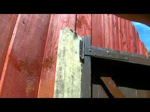 Fire wood storage gate