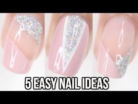 5 EASY Nail Ideas | Triangle Nails