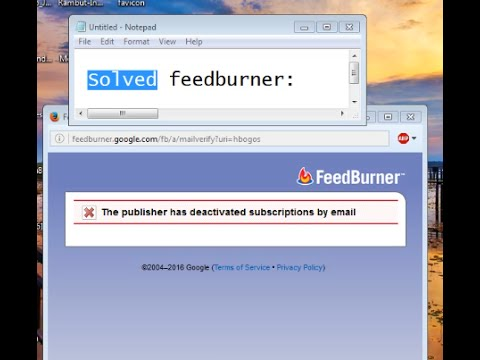 How To Solve Feed Burner Problems  [ Quick Tutorial ]