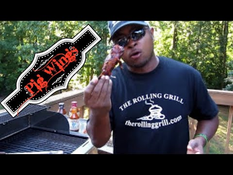 Cooking up some Pig Wings aka Pork Shanks!  Eric Thomas - The Rolling Grill