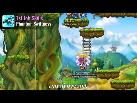 Ayumilove MapleStory Phantom 1st, 2nd, 3rd and 4th Job Skills Videos