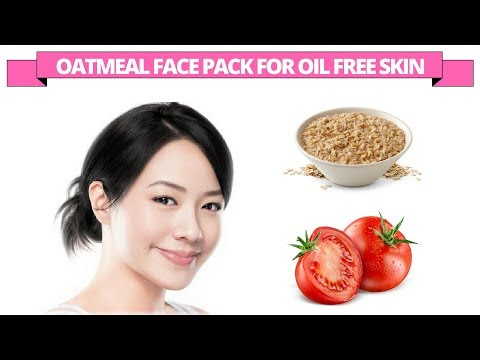 Oatmeal & tomato face pack for oil free skin