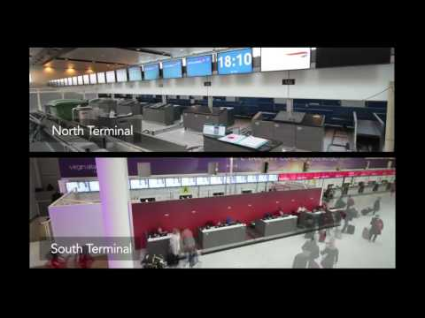 Airline Moves - North & South Terminal Check-In Desks