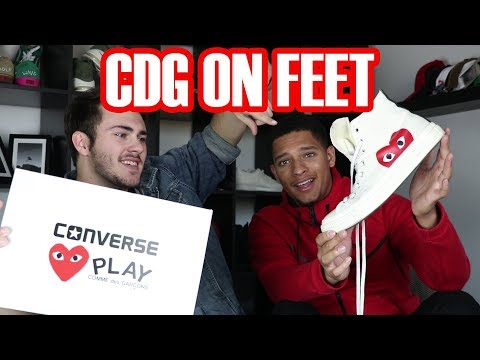 CDG Play x Converse Hi Top White Review + On Feet (Peer Review)