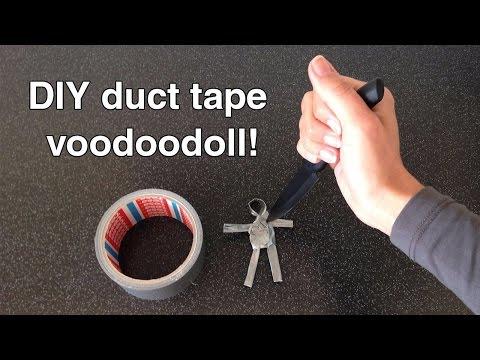 Duct tape-voodoodoll tutorial