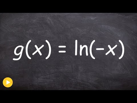 Graphing a natural logarithmic equation using reflection