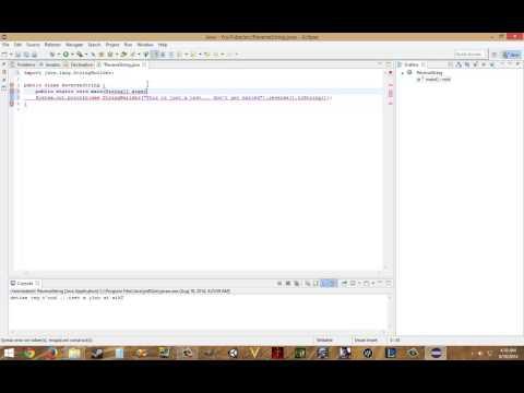 Java Programming 001 - Reversing Strings & User Input