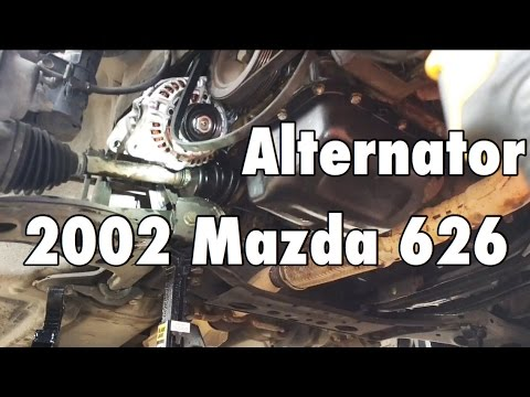 How to Replace the Alternator on a 2002 Mazda 626 2.3L