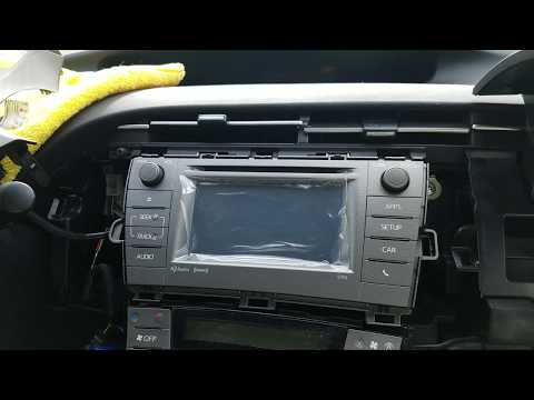 How to Remove Radio / Navigation / Touch Screen from Toyota Prius 2015 for Repair.