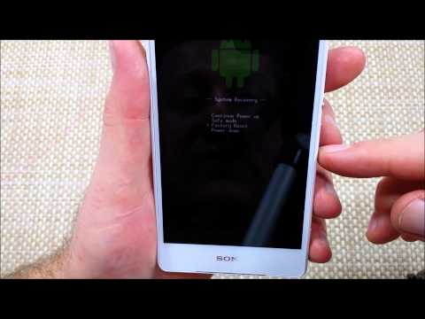Sony Xpera Z3V How to do a Hard Reset z3