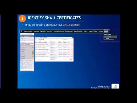 Webinar - Migrate to SHA-2: implications & next steps