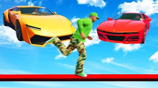 Can You DODGE The FLYING Supercars?! (GTA 5 Funny Moments)