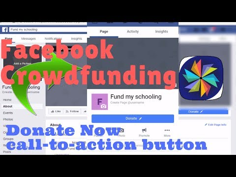 Facebook crowdfunding using Donate button