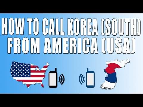 How To Call South Korea From America (USA)