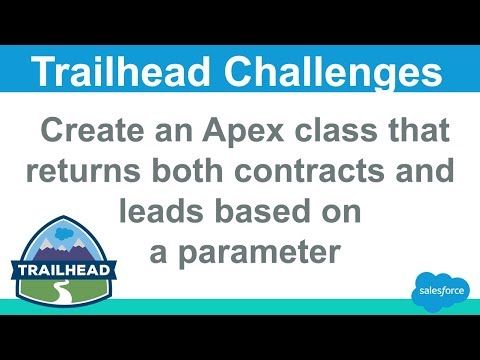 Create an Apex class that returns both contacts and leads based on a parameter