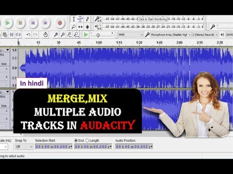 How to Merge,Mix Multiple Audio Tracks in Audacity HINDI