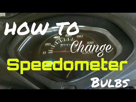 Replace speedometer bulbs with led bulbs