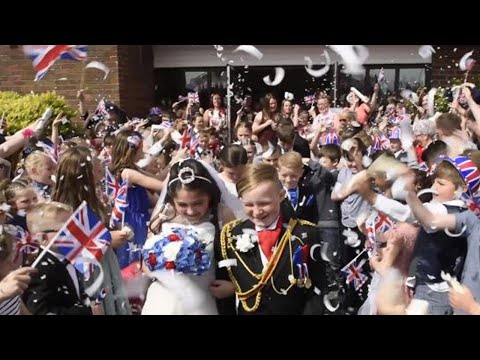 British Schoolchildren 'Tie the Knot' in Mock Royal Wedding
