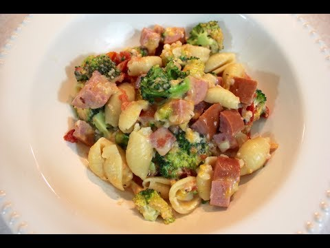 Crockpot Sausage, Pasta & Vegetable Casserole:  Slow Cooker Smoked Sausage With Broccoli & Tomato