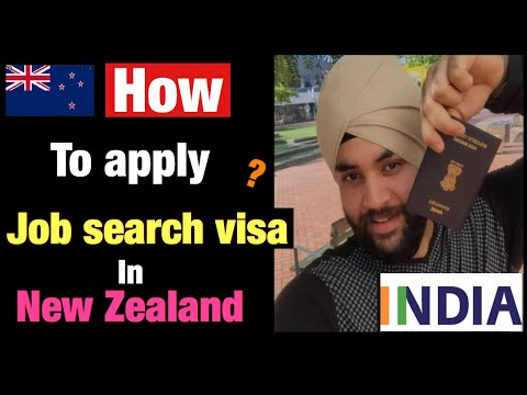 How to apply for job search visa in New zealand by international students in [HindI].