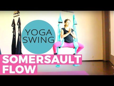 Aerial Yoga Swing Somersault Core Flow