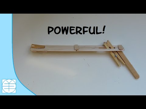 How to Make A Popsicle Stick Rubber band gun. (Full HD)