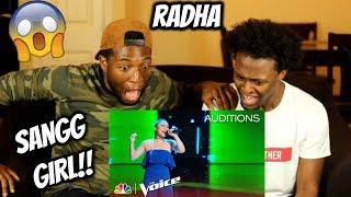 Download RADHA Floors Adam Levine with Jessie J's ″Mamma Knows Best″ - The Voice 2018 Blind Auditions Video
