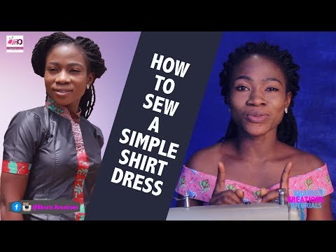 HOW TO SEW A SIMPLE SHIRT DRESS