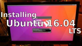 Installing Ubuntu 16.04 LTS