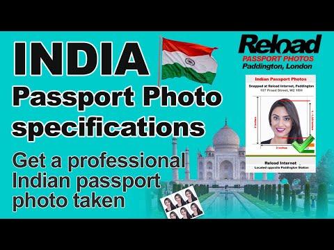 Indian Passport Photo specifications & OCI visa photo for India in London, Paddington